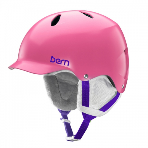 Snowboardová helma Bern Bandita Satin pink - AKCE
