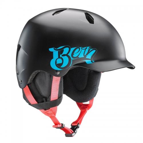 Snowboardová helma Bern Bandito Satin black baseball - AKCE