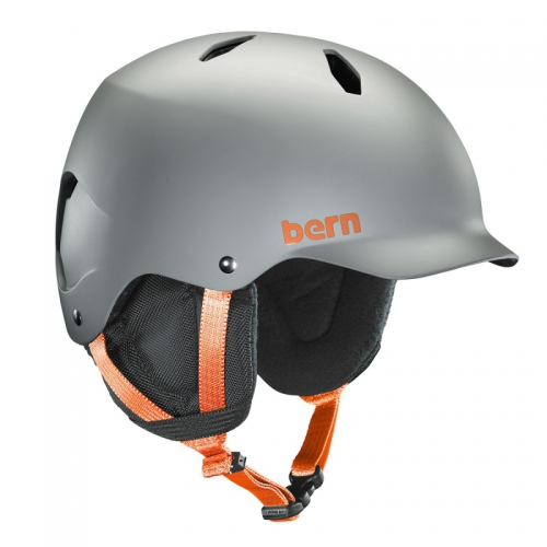 Snowboardová helma Bern Bandito Satin grey - AKCE