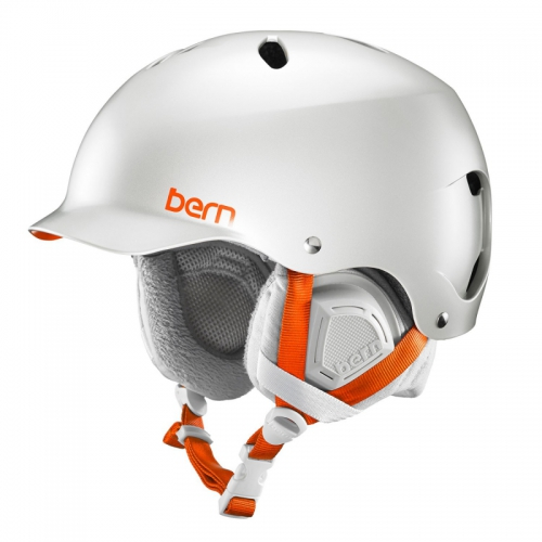 Snowboardová helma Bern Lenox Satin delphin grey - AKCE