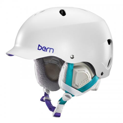 Snowboardová helma Bern Lenox Satin white - AKCE