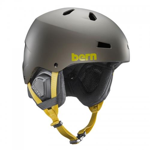 Snowboardová helma Bern Macon Matte charcoal grey - AKCE