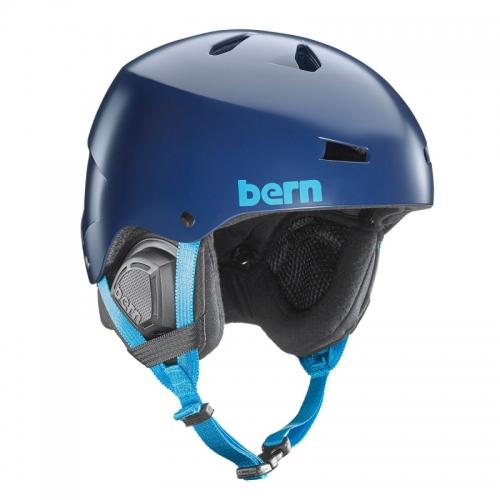 Snowboardová helma Bern Macon Satin navy blue - AKCE