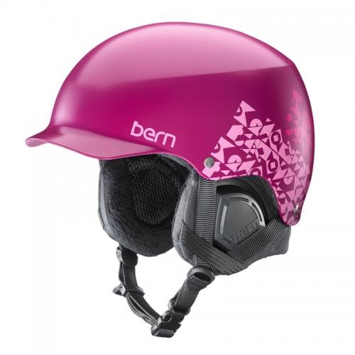 Snowboardová helma Bern Muse Satin magenta geo graphic - AKCE