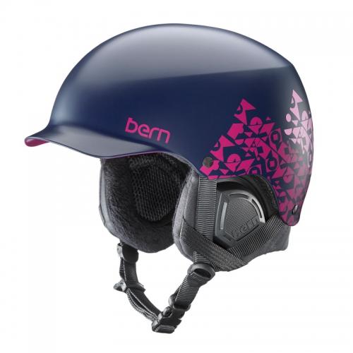 Snowboardová helma Bern Muse Satin navy geo graphic - AKCE