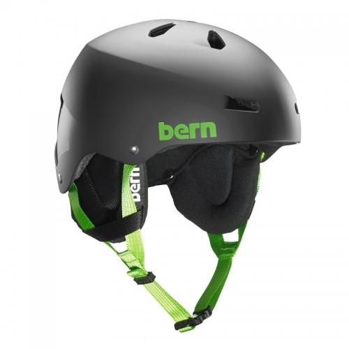 Snowboardová helma Bern Team Macon matte black - AKCE