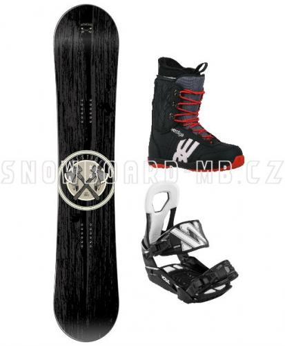Snowboard komplet Apache černý - AKCE