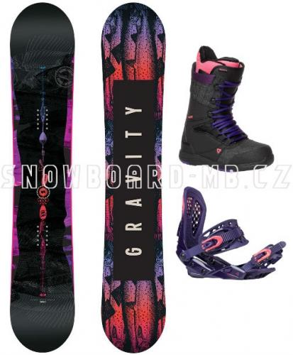 Dámský snowboard komplet Gravity Sublime 17/18