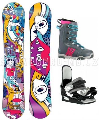 Dívčí snowboard komplet Beany Bark
