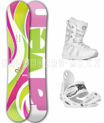 Dámský snowboardový komplet Raven Venus green/pink