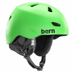 Pánská helma Bern Brentwood satin neon green