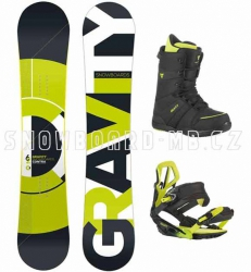 Snowboard komplet Gravity Contra lime 2015/16