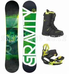 Snowboard komplet Gravity Bandit green 2015/16