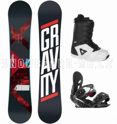 Snowboard komplet Gravity Silent white 2014/15