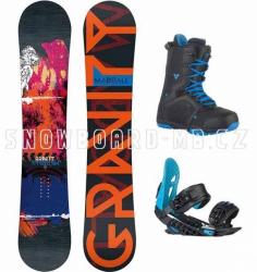 Snowboard komplet Gravity Madball blue 2015/16