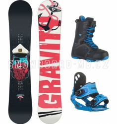 Dětský snowboard komplet Gravity Flash (větší boty)
