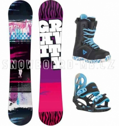 Dětský snowboardový komplet Gravity Fairy 2014/15