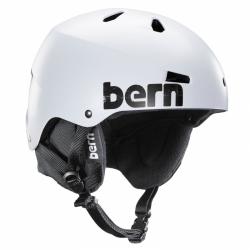 Pánská helma Bern Macon satin white