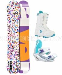 Snowboard komplet Raven Grid white