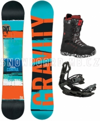 Snowboard komplet Gravity Contra black/red