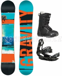 Snowboard komplet Gravity Contra black