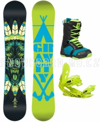 Snowboard komplet Gravity Empatic green