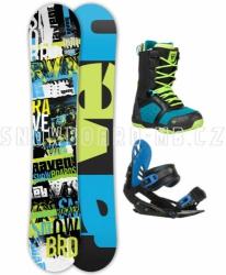 Snowboard komplet Raven Grunge blue