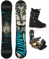 Snowboard komplet Gravity Cosa black/brown
