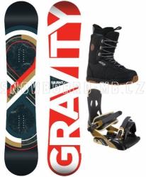 Snowboard komplet Gravity Silent black/brown