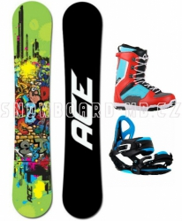 Snowboard komplet Ace Poison blue/red