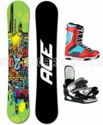 Snowboard komplet Ace Poison black/red