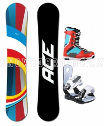 Snowboard komplet Ace B52 red/white