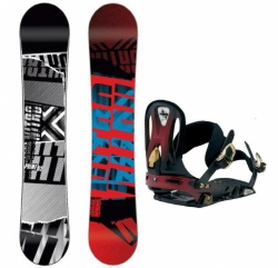 Pánský snowboardový set NITRO Prime, kovové vázání