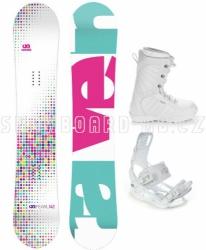 Dívčí snowboard set Raven Pearl white 2017