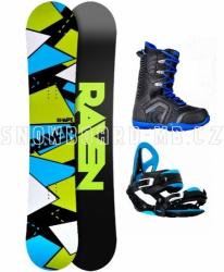 Snowboard komplet Raven Shape black/blue 2017