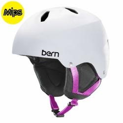 Dětská helma Bern Team Diabla Jr MIPS satin white