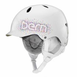 Dívčí helma Bern Bandita gloss white confetti