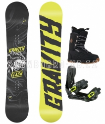 Snowboard komplet Gravity Flash yellow