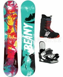 Snowboard komplet Beany Action (boty 39, 40, 41, 42)