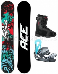 Snowboard komplet Ace Villain a boty Beany