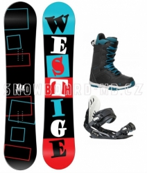 Snowboard komplet Westige Square a boty Gravity