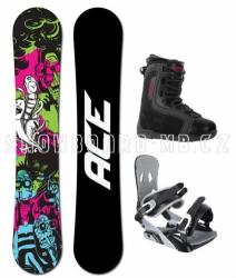 Snowboard komplet Ace Monster black