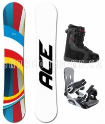 Snowboard komplet Ace B52 white