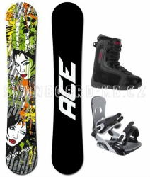 Snowboardový komplet Ace Vixen black