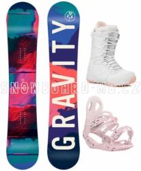 Dámský komplet Gravity Thunder bílo-růžový