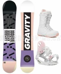Dámský komplet Gravity Voayer bílo-růžový