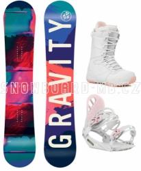 Dívčí komplet Gravity Fairy bílo-růžový (větší boty)