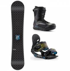 Snowboardový komplet, snowboard, vázání, boty