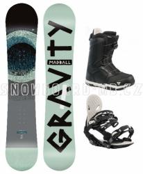 Snowboard komplet Gravity Madball (boty s kolečkem)