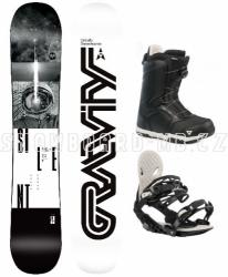 Snowboard komplet Gravity Silent (boty s kolečkem)